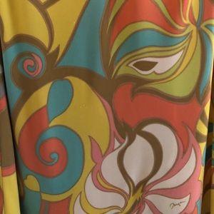 Trina Turk Silk Jersey multicolor tank dress sz 0